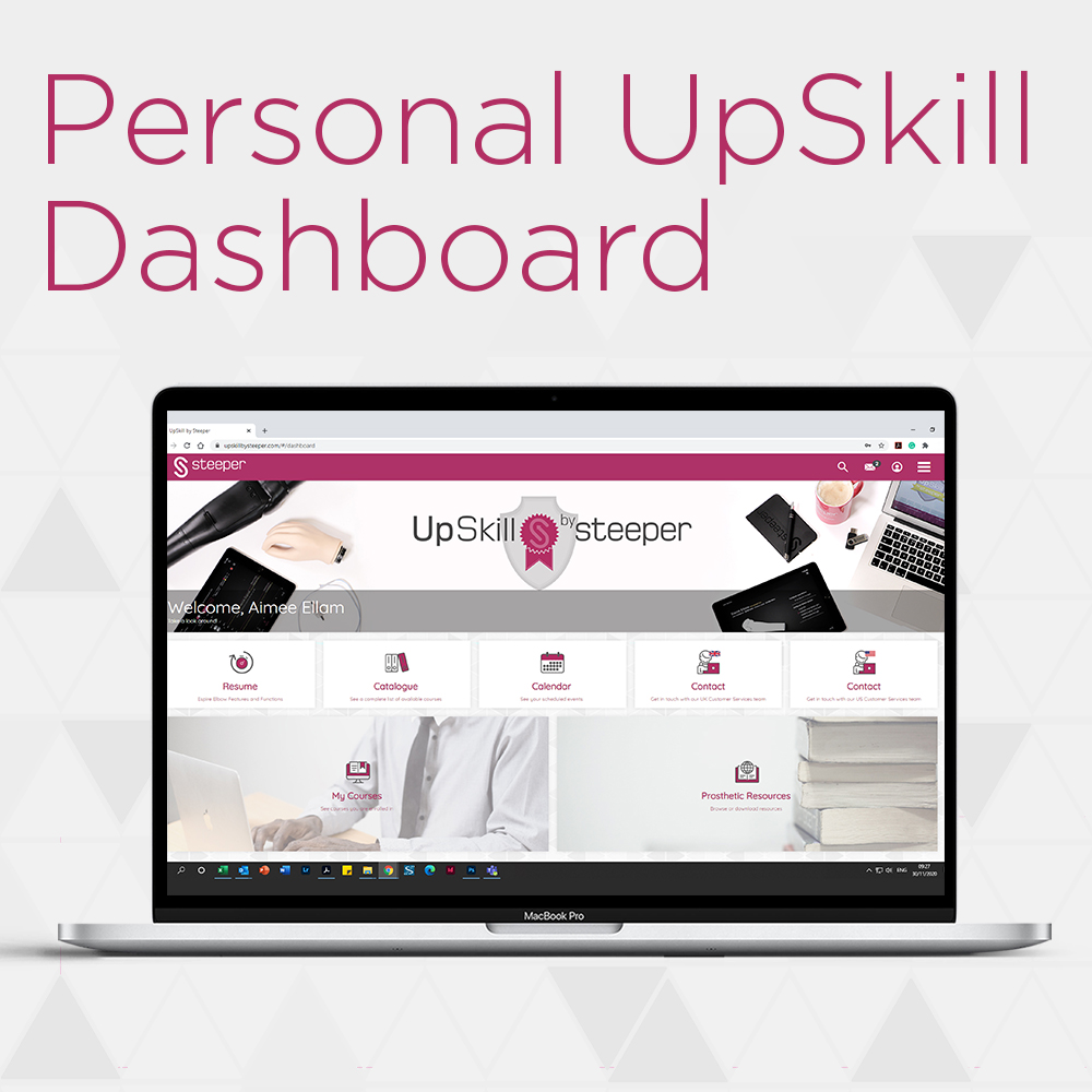 Introducing our Prosthetics Learning Platform UpSkill by Steeper